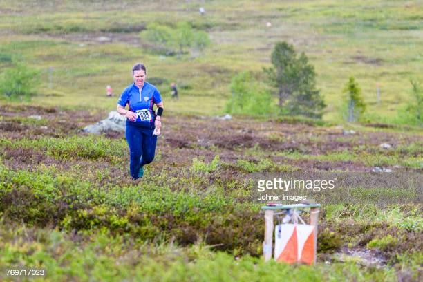 Woman cross-country racing