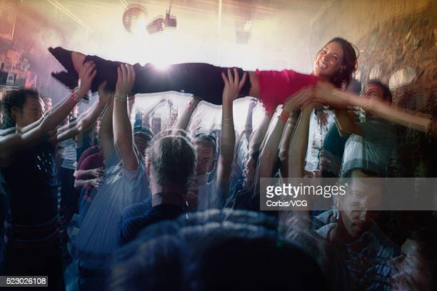 Woman Crowd Surfing