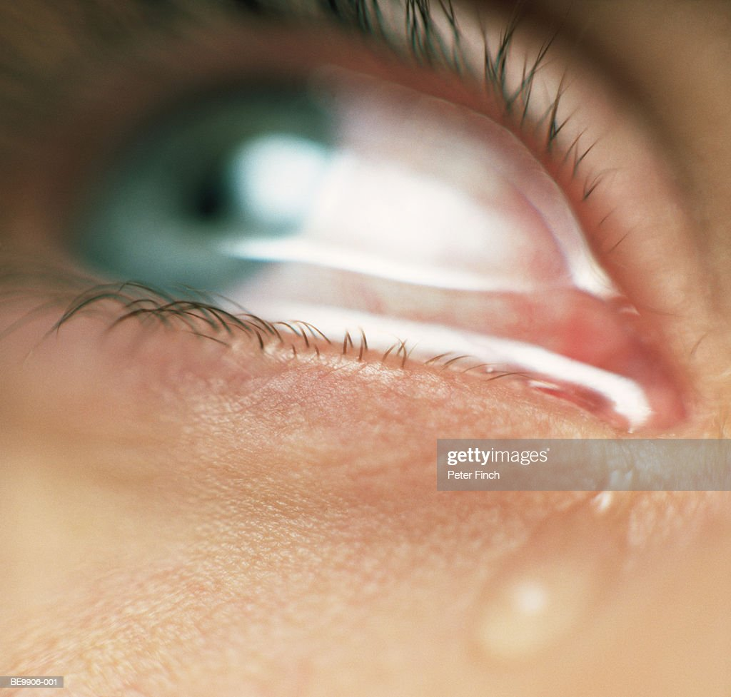 Woman crying, detail : Stock Photo