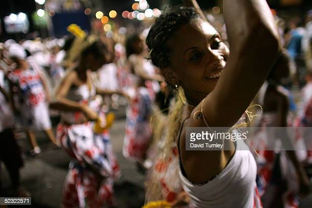 A woman dances in a parade in the streets of Salvador Brazil during the Carnival on February 5 Centuries of slave trade with Central and West Africa...