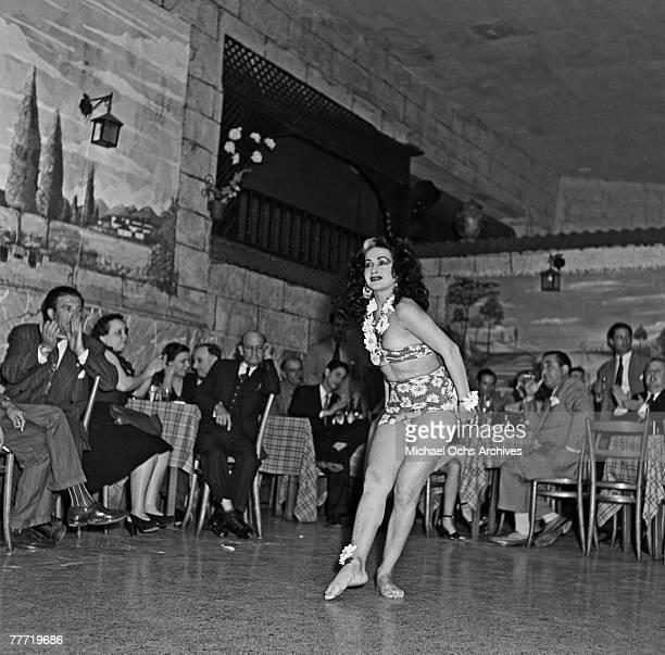 A woman dances the rumba at a nightclub in 1946 in Havana Cuba