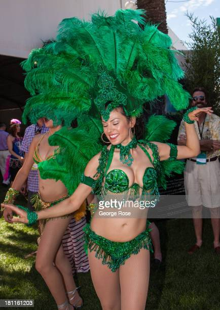 A woman dances the samba during the Sonoma Harvest Wine Auction on September 1 near Sonoma California The annual Sonoma Wine Country Weekend the...