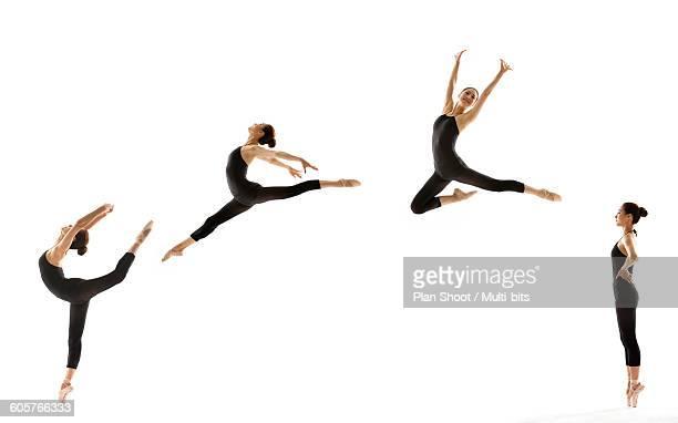 woman dancing ballet  - continuidade imagens e fotografias de stock