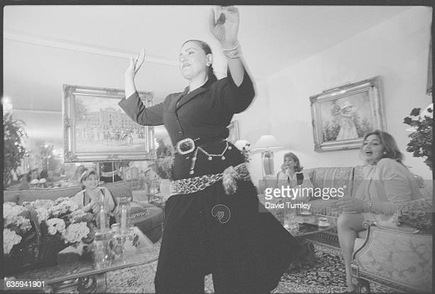 Woman Dancing for Friends