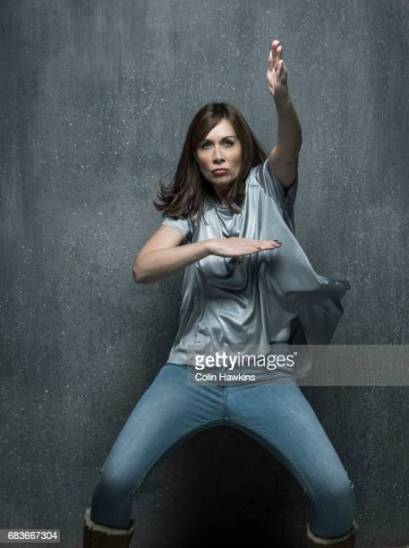 Woman Dancing in an aggressive manner
