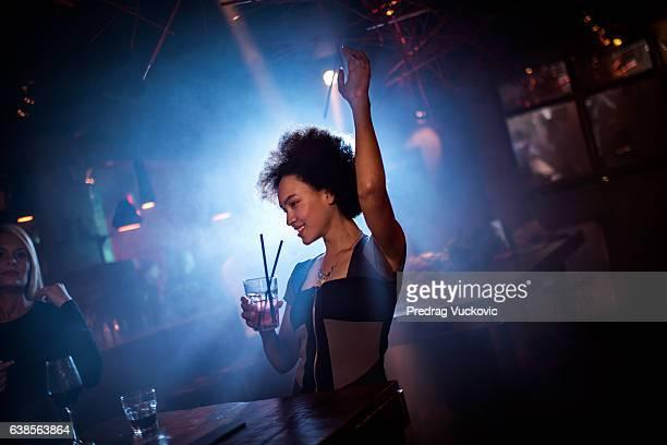 Woman dancing in the club