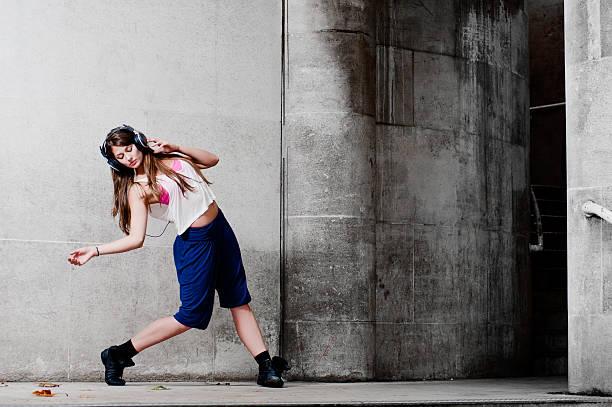 Woman Dancing On Street Wall Art
