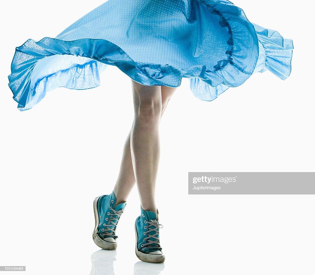 Woman dancing : Stock Photo