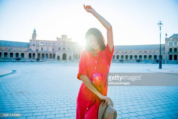 woman dancing. - seville stock pictures, royalty-free photos & images