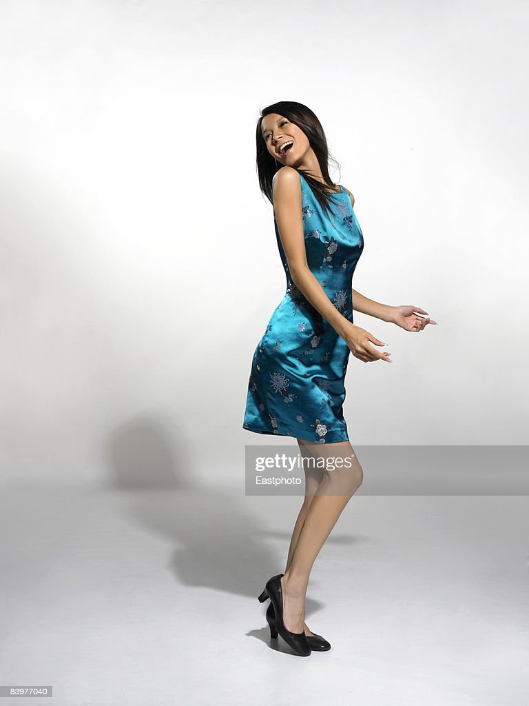 woman dancing. : Foto de stock