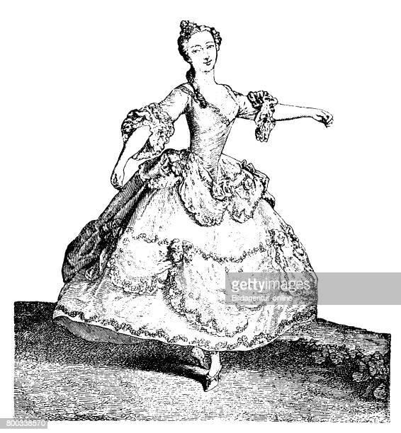Woman dancing wearing a Crinoline History of fashion costume story