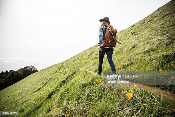 Woman day hiking