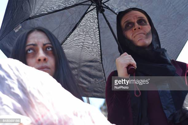 Woman demonstrators was meeting at Zocalo of Mexico City to performs a march against of feminicides and recent murder of the student Mara Castilla on...