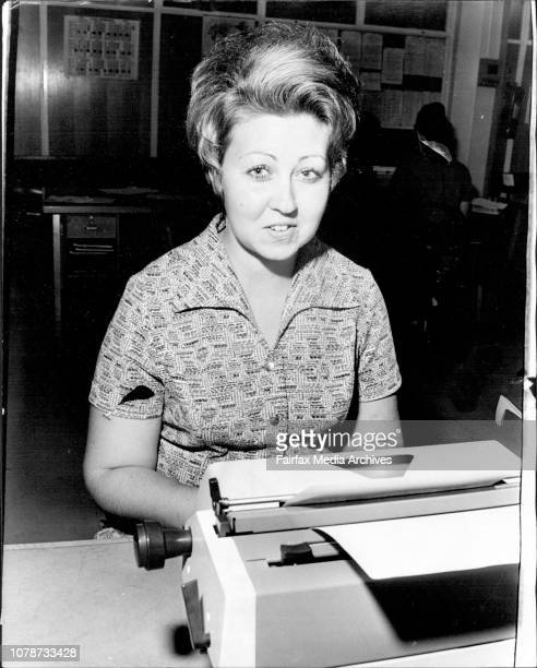 Woman Detective Connie Dube 24 who is being assigned to Broken Hill the first police woman to go there Pictured at the CIB October 04 1973