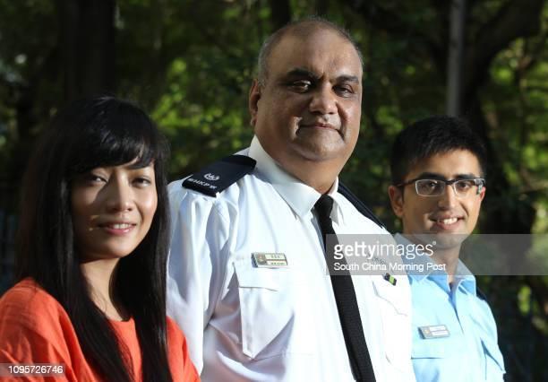 Woman detective senior inspector Chan Chungyan superintendent of Police Mohammad Khan policeman Adnan Khan talk about 'Program Gemstone' TST Police...