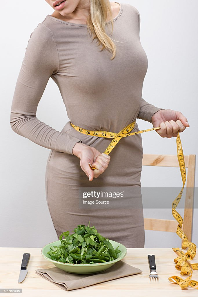 Woman dieting : Stock Photo