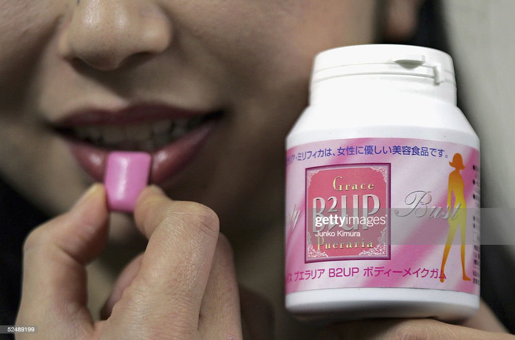Breast-Enhancing Chewing Gum Sold In Japan : News Photo