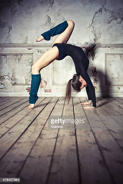 Woman doing backbend