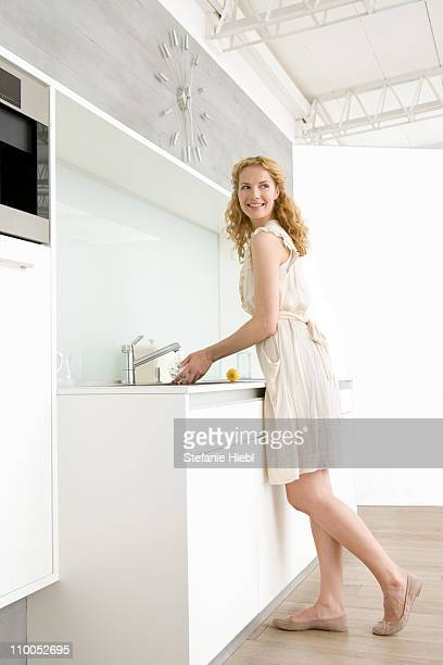 Woman doing dishes