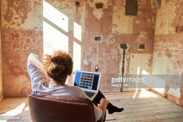 woman doing diy at home - inspiration stock pictures, royalty-free photos & images