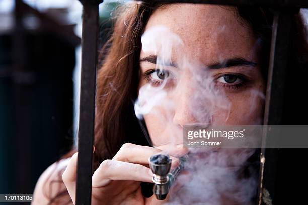 woman doing drugs - crack pipe stock pictures, royalty-free photos & images