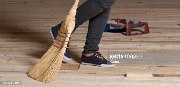 woman doing housework - cleaning - womenswear stock pictures, royalty-free photos & images