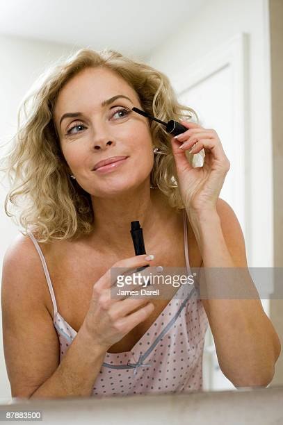 Woman doing make up