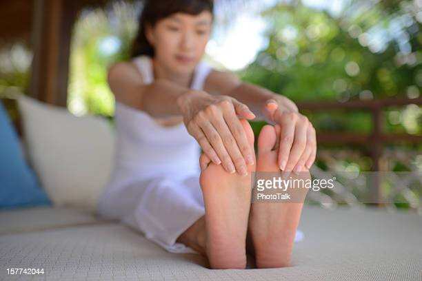 Woman Doing Relaxing Exercise