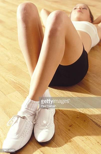 Woman doing sit-ups