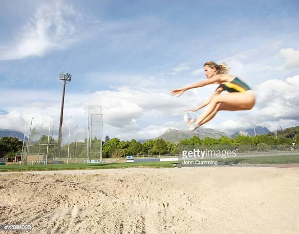Woman Doing the Long Jump