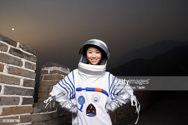 Woman Dressed as an Astronaut