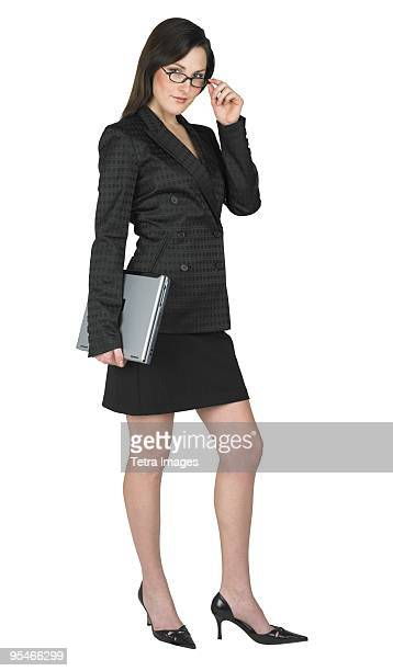 A woman dressed in business attire
