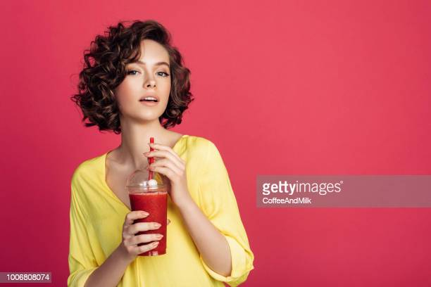 woman drinking detox juice - detox stock pictures, royalty-free photos & images