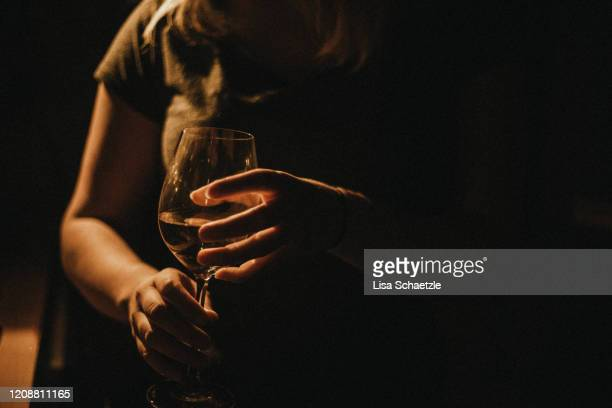 woman drinks wine at home - passed out drunk stock pictures, royalty-free photos & images