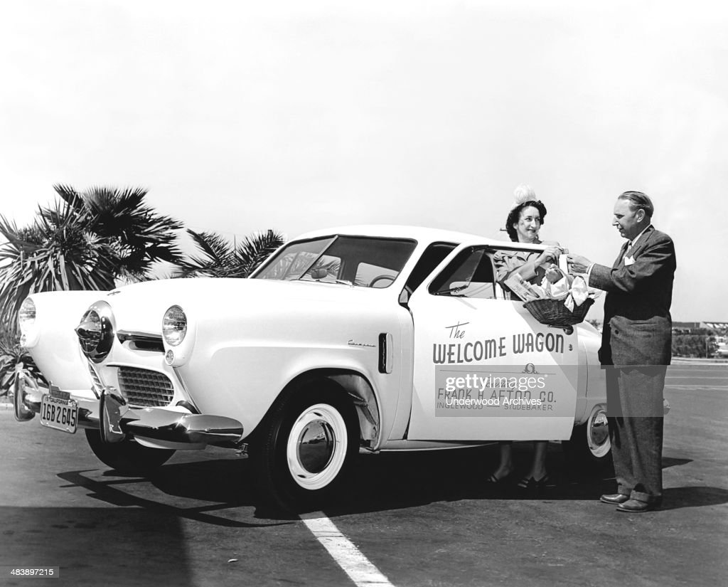 Image result for retro image of welcome wagon
