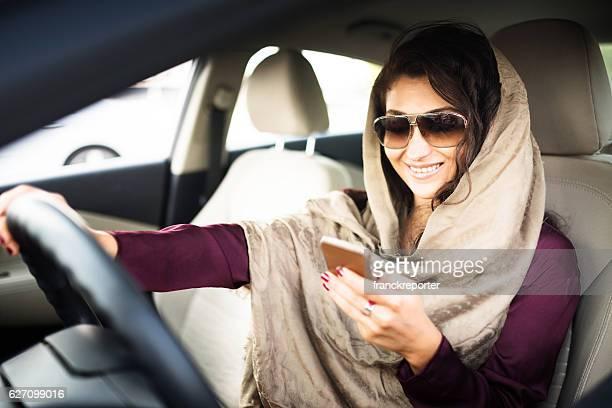 woman driving the car in abu dhabi