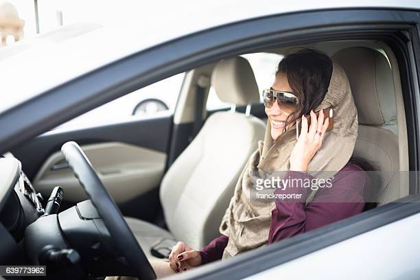 woman driving the car in abu dhabi