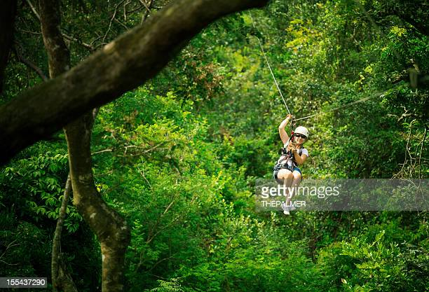 woman during a Canopy Tour Costa Rica