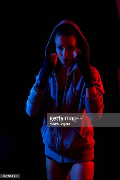 woman during workout - boxing sport stock pictures, royalty-free photos & images