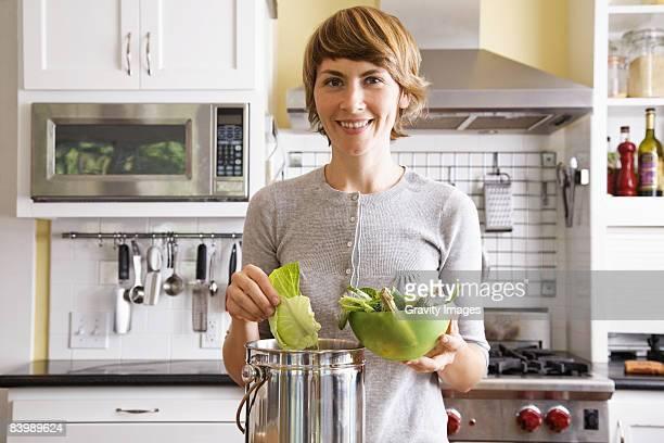 Woman Eating a Fresh Salad