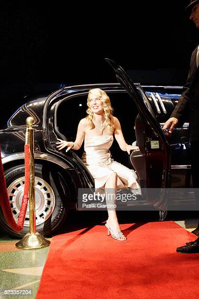 Woman Emerging From Limo