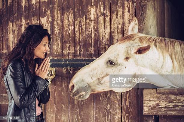 Woman Enjoying a Day on a Farm