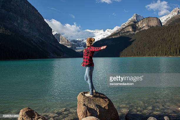Woman enjoying freedom in nature