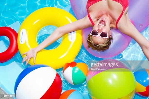 Woman enjoying in pool