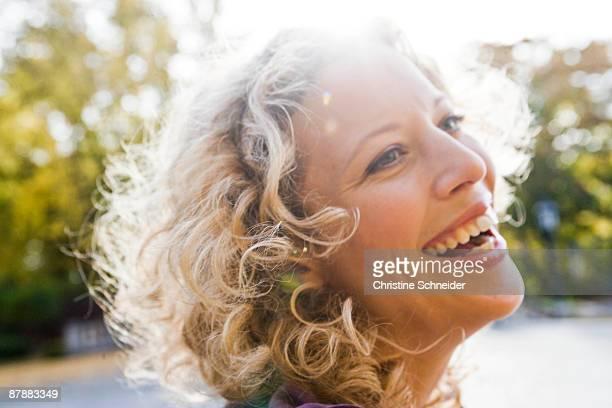 Woman enjoying leisure time