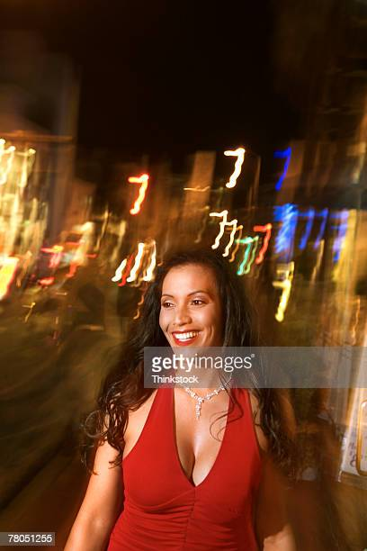Woman enjoying nightlife