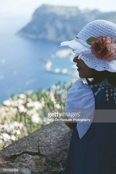 Woman enjoying sea view