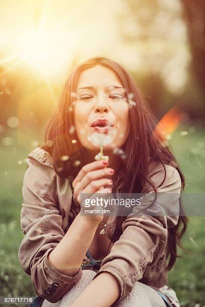 Woman enjoying the summer