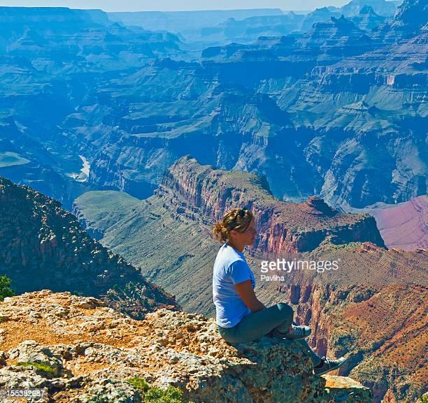 Woman Enjoying View of Grand Canyon USA