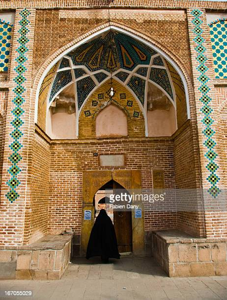 CONTENT] Woman entering a mosque in Tabriz northwestern Iran